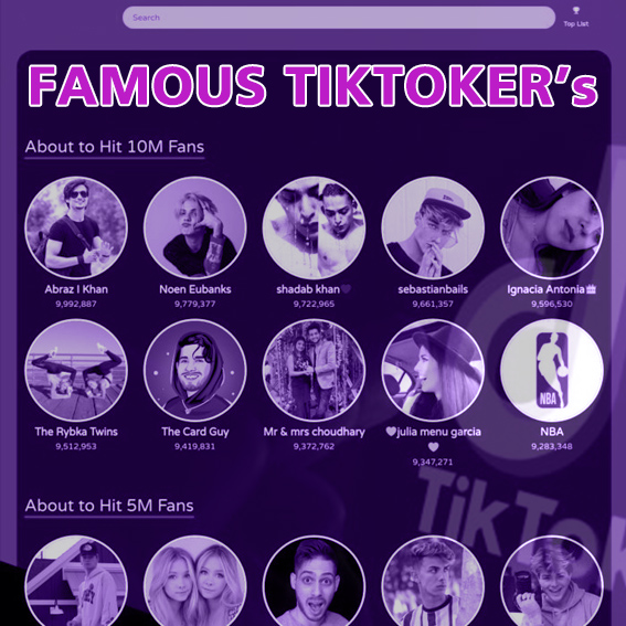 famous tiktokers